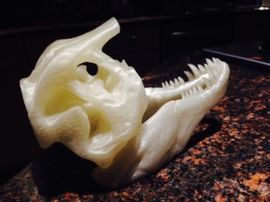 Three-Quarter-T-Rex-Skull